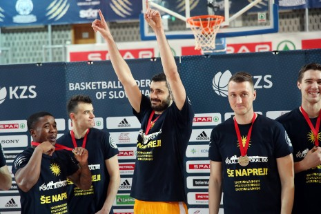 winners of Spar Cup at basketball match between Sixt Primorska and Hopsi Polzela in Bonifika Hall, Koper, Slovenia on February 17, 2019