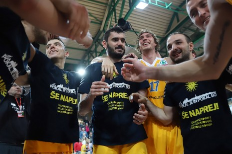action during Spar Cup Final basketball match between Sixt Primorska and Hopsi Polzela in Bonifika Hall, Koper, Slovenia on February 17, 2019
